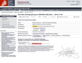 Un brevet Peugeot Citroen sur Espacenet